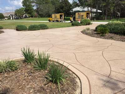 driveway design on hill home dans driveway designs spring hill florida