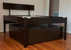 High Platform Bed Frame High Platform Bed Plans Woodideas