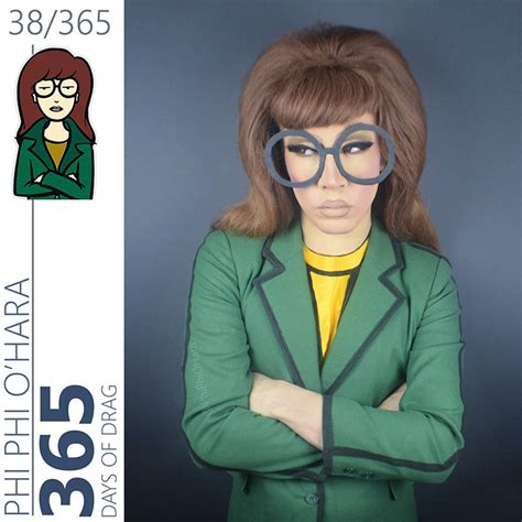 the daria hair exle drag queen turns herself into our favorite 90s cartoon