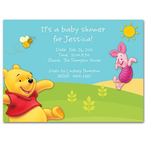 powerpoint templates for baby shower invitations winnie the pooh baby shower invitations templates