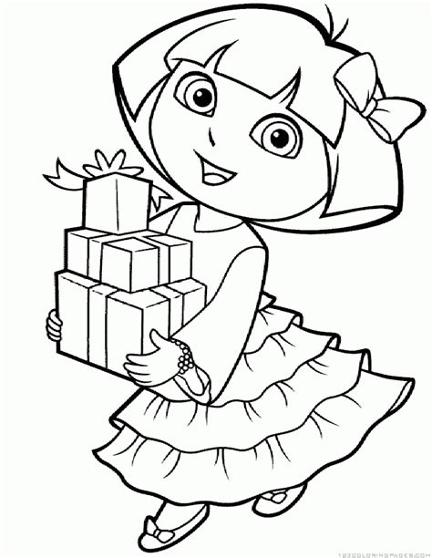 dora cartoon coloring pages dora coloring pages