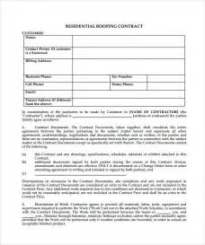 roofing contract template 8 download free documents in pdf