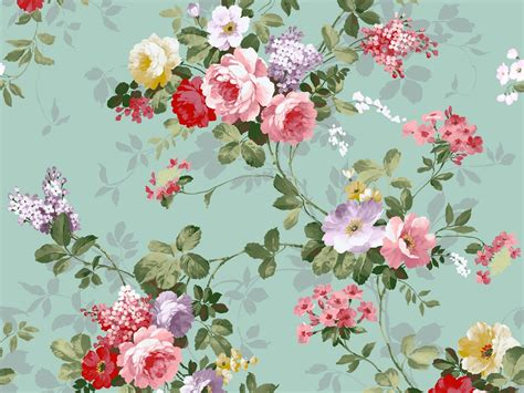 wallpaper vintage cute cute vintage flowers wallpaper 1600x1200 22760