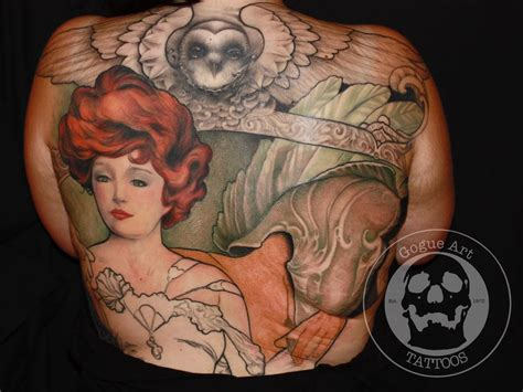 jeff gogue tattoo in progress mucha style back by jeff gogue tattoos