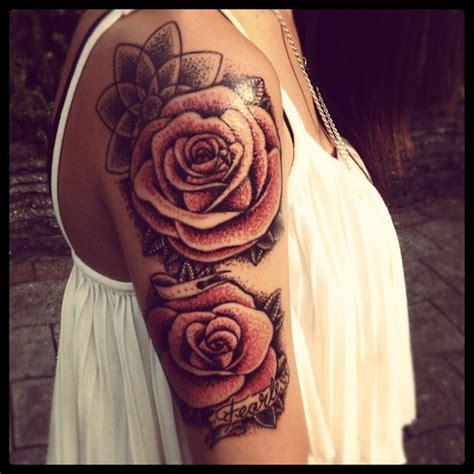 cute rose tattoos tumblr on shoulder