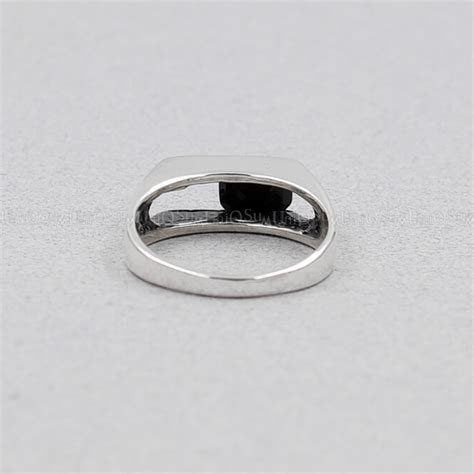 movable black cubic zirconia 925 sterling silver ring