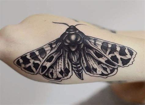 moth tattoo below elbow best tattoo ideas gallery