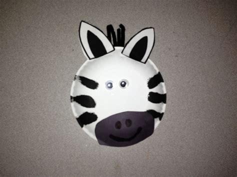 zebra paper plate craft