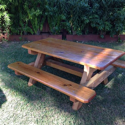wooden picnic table picnic tables nola woodworks
