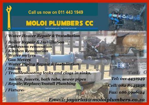 moloi plumbers johannesburg contractors directory