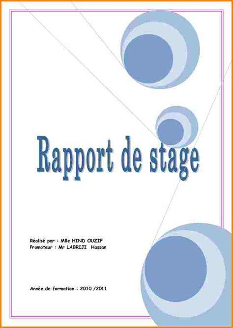 exemple de rapport de stage gratuit