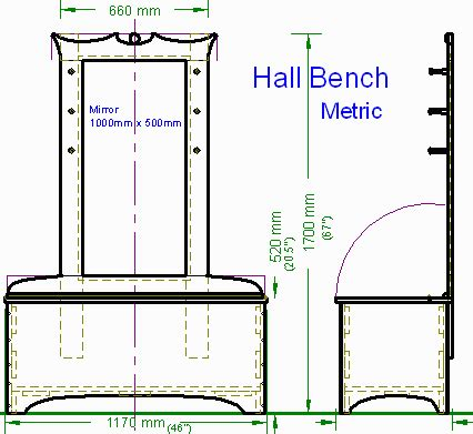 hall tree bench plans woodware hall bench with mirror