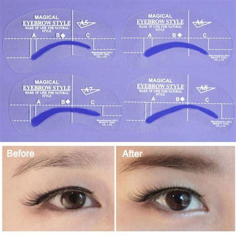 eyebrow enemy 4 using stencils to create eyebrow shape 4 stile sopracciglia eyebrows disegnare stencils make up