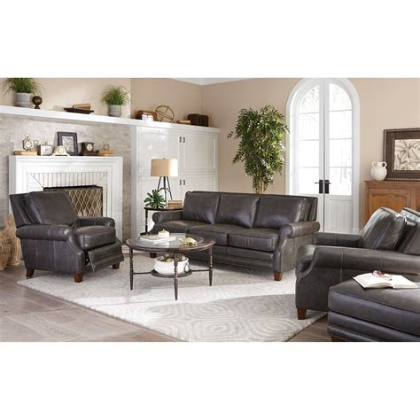 Craftmaster L164050 Transitional Leather Sofa With Craftmaster Leather Sofa
