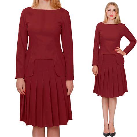 burgundy marycrafts womens church office business skirt