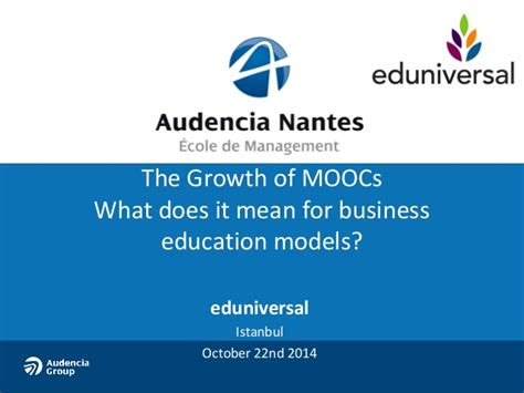 What Does Getting An Mba Entail by The Growth Of Moocs What Does It For Business