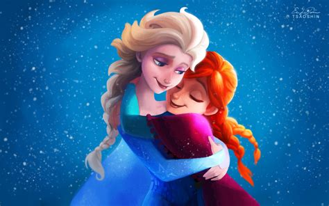 wallpaper of frozen frozen images elsa and anna hd wallpaper and background