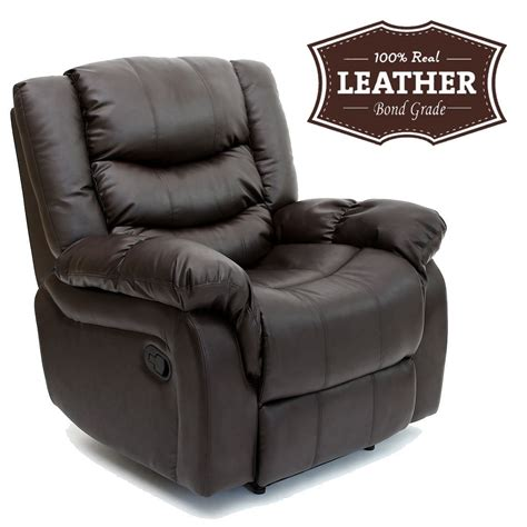 leather reclining armchair seattle leather recliner armchair sofa home lounge chair