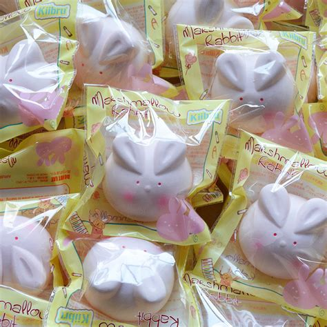 Squishy Licensed Squishy Bunny Pancake Original kiibru bunny marshmallow squishy charm rising