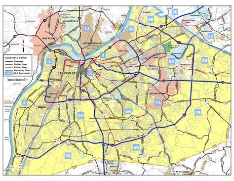 louisville zip code map louisville kentucky area map images