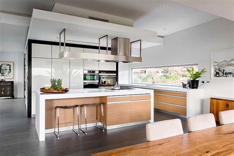 House Kitchen Modern Rectangular House Impresses With A Splendid