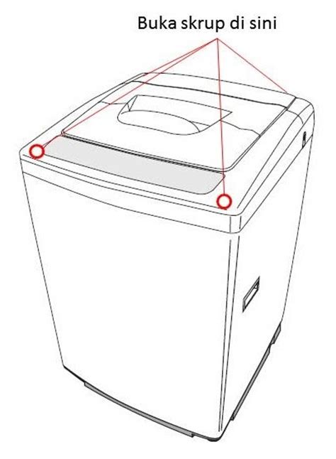 Mesin Cuci 1 Tabung Buka Depan cara membongkar tabung drum mesin cuci elektronik