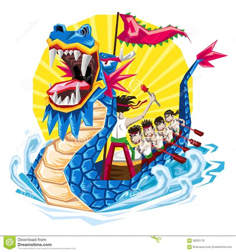 dragon boat festival year duanwu chinese dragon boat festival stock vector image