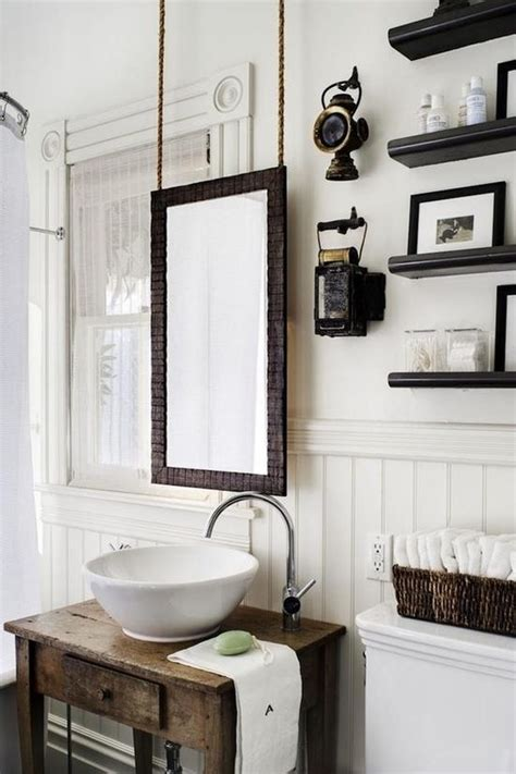 pinterest bathroom mirror ideas hanging mirror rustic modern bathroom a cozy home