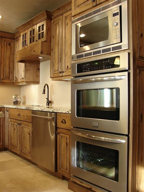 double oven kitchen cabinet double oven and microwave and alder kitchen cabinets