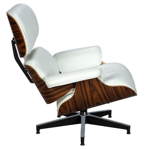 white leather chaise lounge chair leisuremod modern classic plywood zane lounge chair
