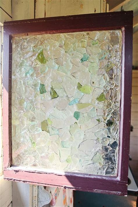 sea glass bathroom ideas sea glass privacy window use glass adhesive to cover the