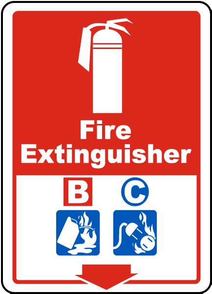 Sign Label Extinguisher extinguisher b c sign a5320 by safetysign