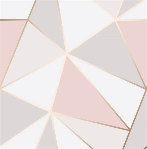 Futuristic Kitchen Designs by Geometric Wallpaper 3d Apex Triangle Modern Metallic Rose
