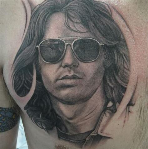 jim morrison tattoos handsome jim morrison on chest tattoos