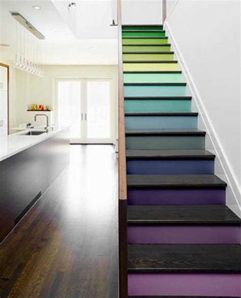 treppen ideen painted stair ideas