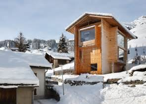 mountain works home design charming wood cabins in swiss village of leis in vals modern house designs