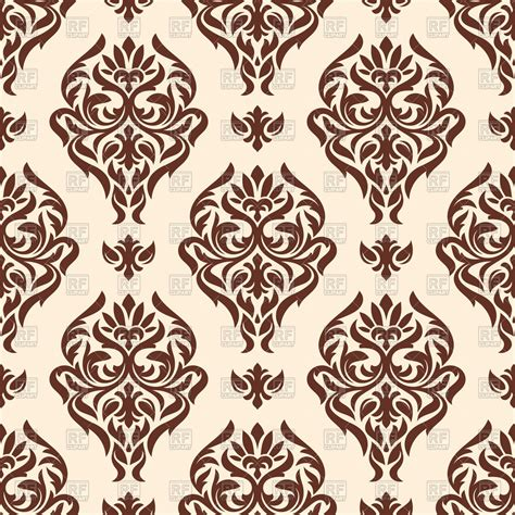 modern classic wallpaper design seamless classic damask wallpaper royalty free vector clip