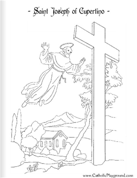 saint joseph of cupertino catholic coloring page 2 feast