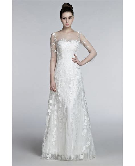 Flowing Wedding Dresses by Flowing Lace Wedding Dresses With Sleeves