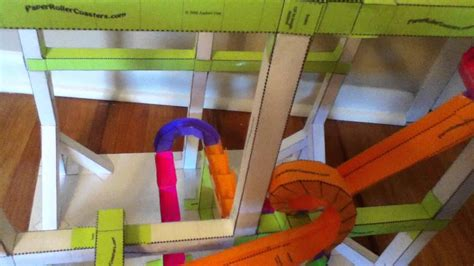 How To Make A Roller Coaster With Paper - another paper roller coaster