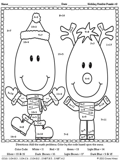 math puzzle coloring pages freebie bright ideas this holiday season christmas math
