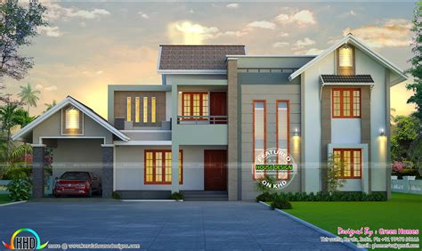 beautiful home design by green homes thiruvalla kerala home design and floor plans