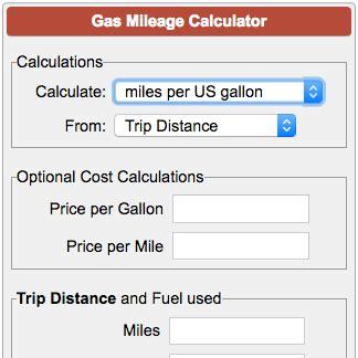 gas mileage calculator