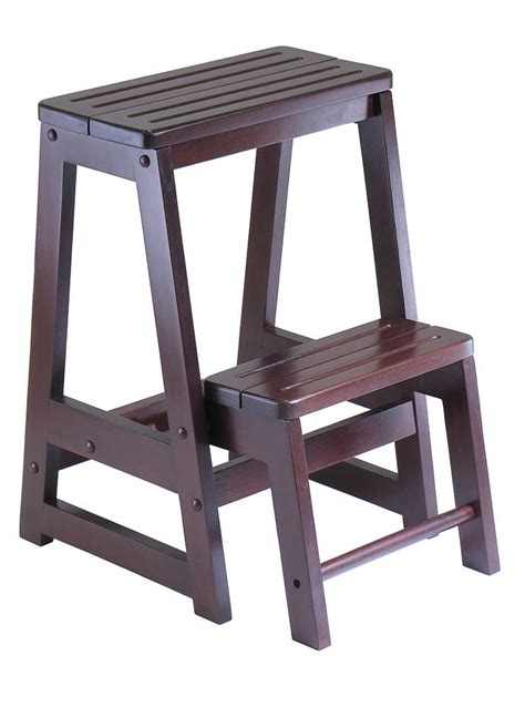 2x wooden step bar stool wood ladders home shop bar wine cellar ladders by wine cellar innovations