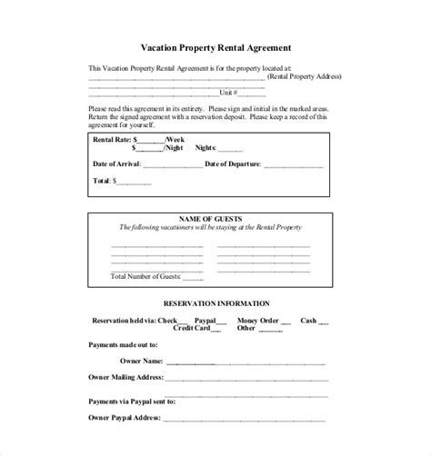 residential lease agreement doc
