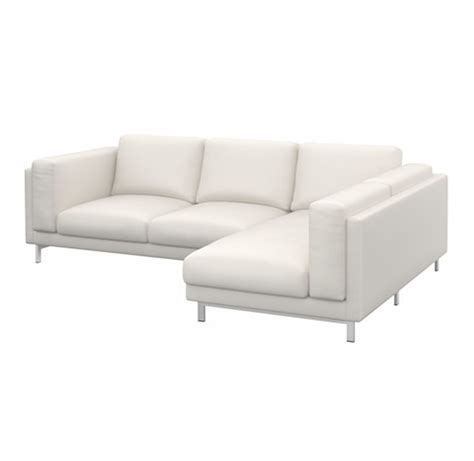 white loveseat cover ikea nockeby slipcover loveseat w chaise right cover