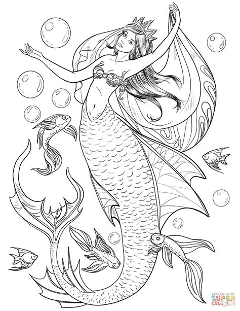 coloring pages with mermaids mermaid coloring page free printable coloring pages