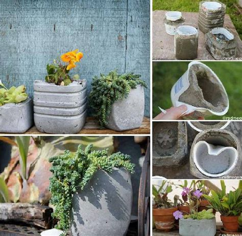 Cement Planters Diy by Make Your Own Concrete Planters Home Design Garden