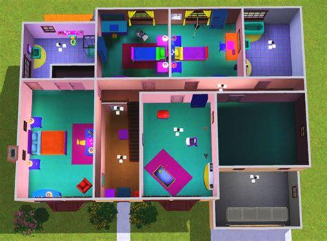 Desing A House by Simpson Plan De Maison Sims 3 The Simpsons House Plan