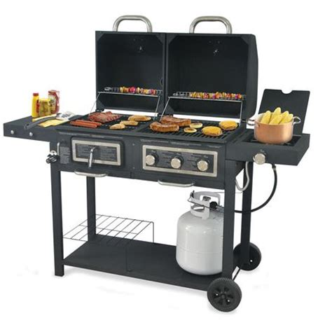 Backyard Grill 3 Burner Gas And Charcoal Grill Bbq Backyard Grill 3 Burner Gas Grill With Side Burner